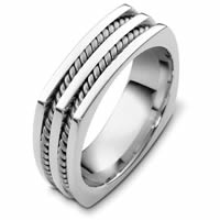 Item # A125581WE - 18K White Gold Wedding Band.