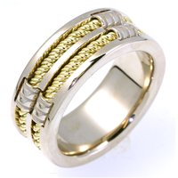 Item # A125921E - 18K Two-Tone Wedding Band.