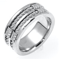 Item # A125921W - 14K White Gold Wedding Band.