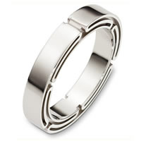 Item # A129921WE - 18 Kt White Gold Wedding Band