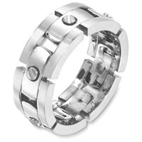 Item # A129951WE - 18Kt White Gold Wedding Band