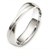 Item # A130281W - 14 Kt White Gold Wedding Band