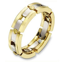 Item # A131681E - 18 Kt Two-Tone Wedding Band