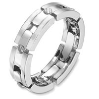 Item # A131681WE - 18Kt White Gold Wedding Band