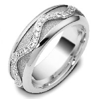 Item # A7769WE - 18K Diamond Wedding Band Rotating Center