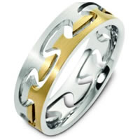 Item # B123981 - Together Free 14K Two Tone Gold Wedding Ring