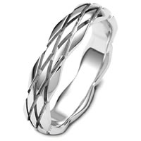 Item # B124101PD - Contemporary Palladium Carved Wedding Band