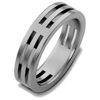 Item # B125801TI - Titanium Wedding Ring