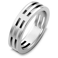 Item # B125801W - 14K White Gold Wedding Band