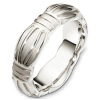 Item # B126801WE - 18 Kt White Gold Wedding Band