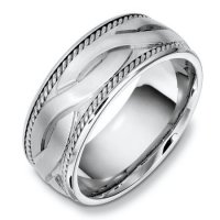 Item # B131951AG - Sterling Silver Han Made Wedding Band