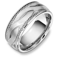 Item # B131951WE - 18 Kt White Gold Wedding Band