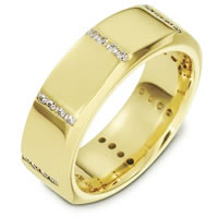 Item # B133731E - Diamond Wedding Band 18K Gold