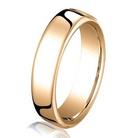 Item # B25813RE - 18Kt Rose Gold 3.5mm  Comfort Fit Wedding Band