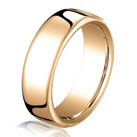 Item # B25833R - 14K Rose Gold 5.5mm Comfort Fit Wedding Band