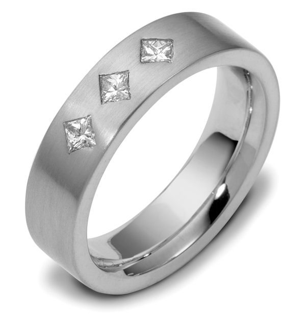 Item # C116611W - 14Kwhite gold, comfort fit, 5.5 mm wide diamond ring, 0.30 ct total weight diamond ring. diamonds are VS1 in clarity G in color. The finish on the ring is brushed. Different finishes may be selected or specified.