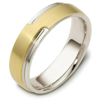 Item # C120521E - 18 Kt Two-Tone Wedding Band