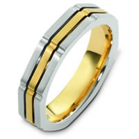 Item # C122951E - 18K Two-Tone Gold Wedding Band.
