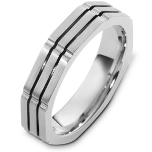 Item # C122951PP - Platinum, comfort fit, 4.5 mm wide wedding band. The finish on the ring is brushed. Different finishes may be selected or specified.