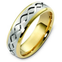 Item # C123911E - 18K Two-Tone Wedding Band.