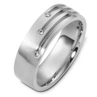 Item # C124431AG - Silver 925 Diamond Wedding Band
