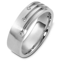 Item # C124431PD - Contemporary Palladium Diamond Wedding Band