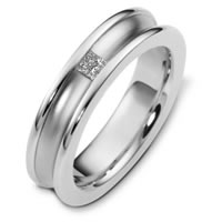 Item # C124451WE - Princess Cut Diamond Wedding Band