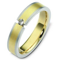 Item # C124571PE - Platinum-18K Diamond Wedding Band
