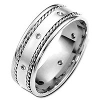 Item # C124581PD - Palladium Diamond Band