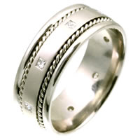 Item # C124582W - 14K white gold Diamond Wedding Band