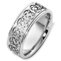 Item # C125231AG - Sterling Silver Celtic Wedding Band