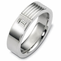 Item # C125321W - 14K White Gold Diamond Wedding Band.