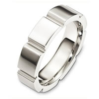 Item # C127691PD - Palladium Contemporary Wedding Band