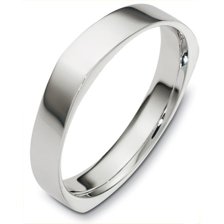 Item # C129931WE - 18 Kt White gold wedding band, 4.0 mm wide, comfort fit wedding band. This is a plain band with subtle accents. The finish on the ring is polished. Other finishes may be selected or specified.