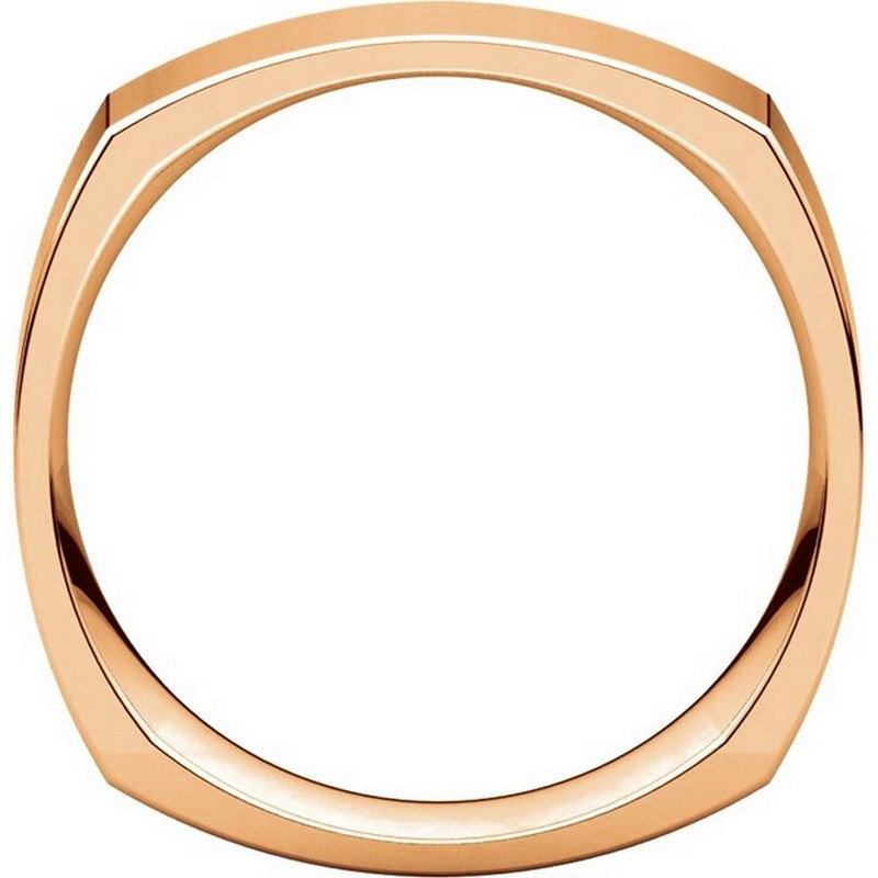 Item # C131621R View 2 - 14K Rose Gold 6mm Wide Square Wedding Ring