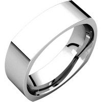 Item # C131621W - 14K White Gold 6mm Wide Square Mens Wedding Band