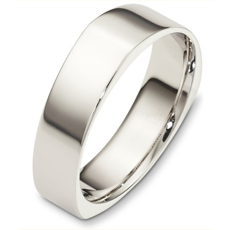 Item # C131671WE - 18 Kt White gold wedding band, 6.0 mm wide, comfort fit wedding band. The band is plain with subtle accents. The finish is polished. Other finishes may be selected or specified.