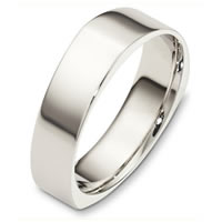 Item # C131671WE - White Gold 6.0mm  Comfort Fit Wedding Band