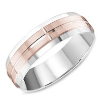 Item # C13761R - Rose & White Gold Classic Wedding Band
