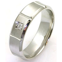 Item # C7828C - Cobalt Chrome Diamond Wedding Ring