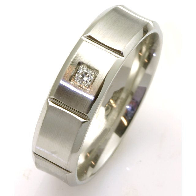 Item # C7828C View 2 - Cobalt Chrome Diamond Wedding Ring