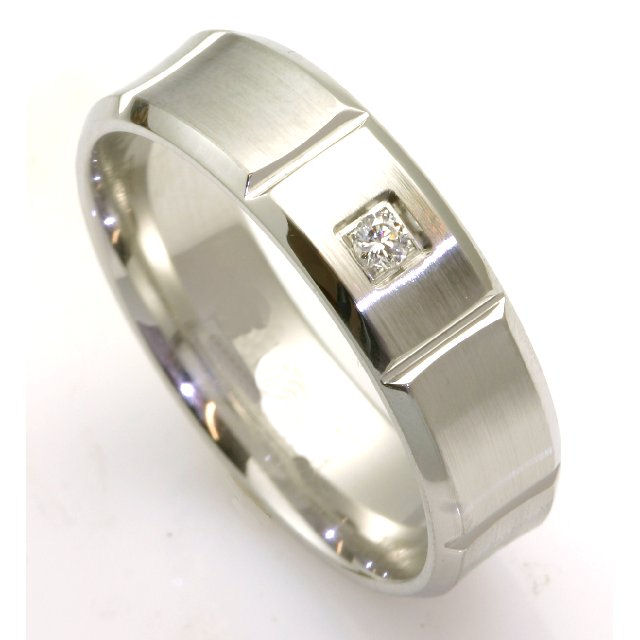 Item # C7828C View 3 - Cobalt Chrome Diamond Wedding Ring