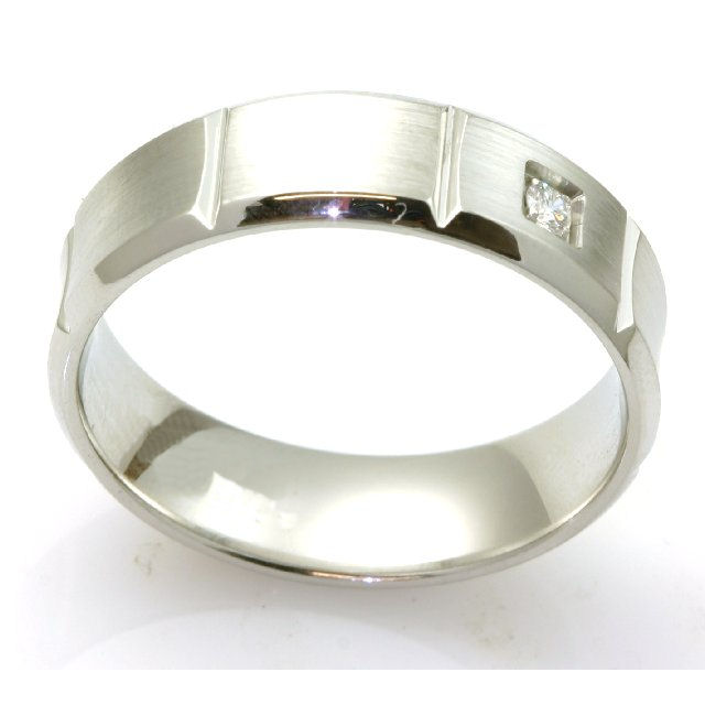 Item # C7828C View 4 - Cobalt Chrome Diamond Wedding Ring