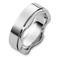 Item # C8108W - 14K White Gold Wedding Band