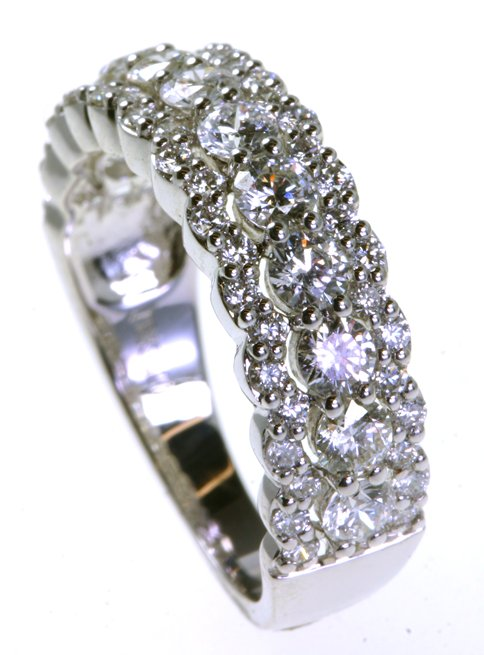 Item # DS8809WE View 2 - Diamond Anniversary Band