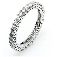 Item # E245060WE - Diamond Eternity Band 18K White Gold