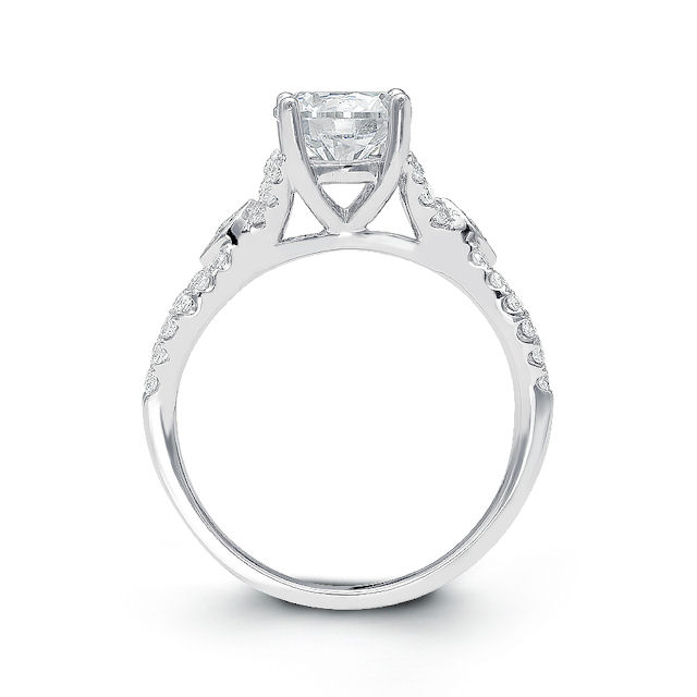 Item # E32354W View 2 - Twisted Diamond Engagement Ring