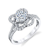 Item # E32457PP - Modern Diamond Engagement Ring