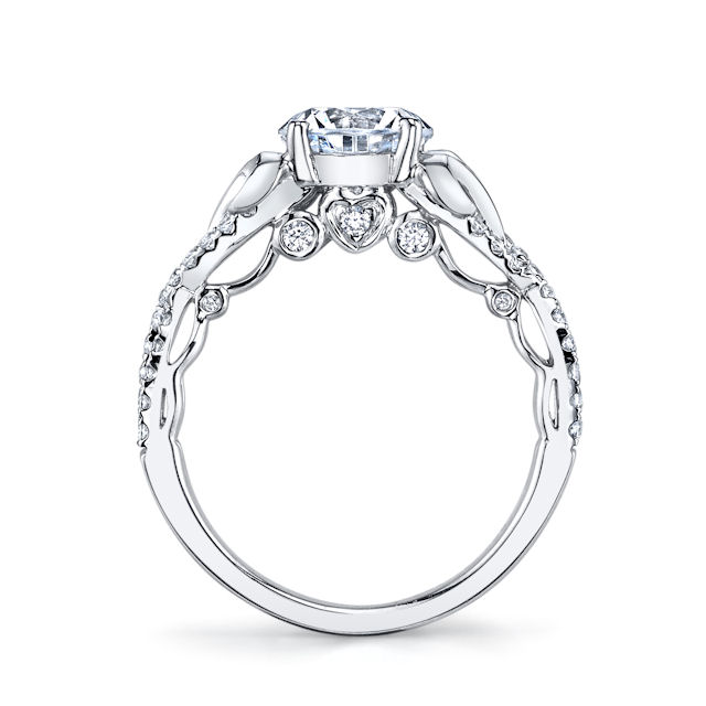 Item # E32526WE View 2 - Sculptural Diamond Engagement Ring