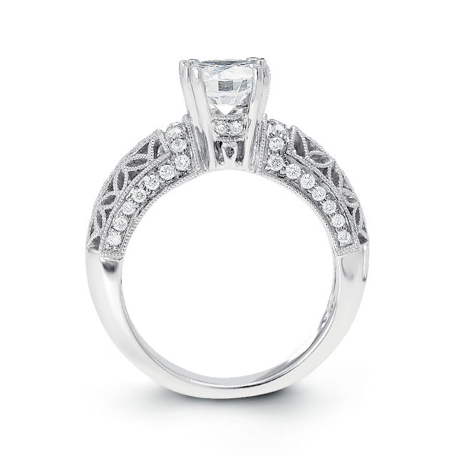 Item # E32562WE View 2 - Vintage Diamond Engagement Ring
